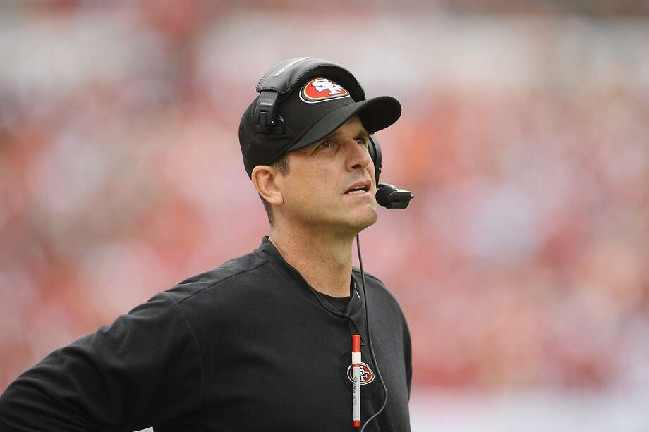What coach has more charisma and chutzpah than Jim Harbaugh? No-body. His outsized enthusiasm can get him into trouble, but the weird things he says and does seem to be part of his winning formula. Photo: Brian Blanco, Associated Press
