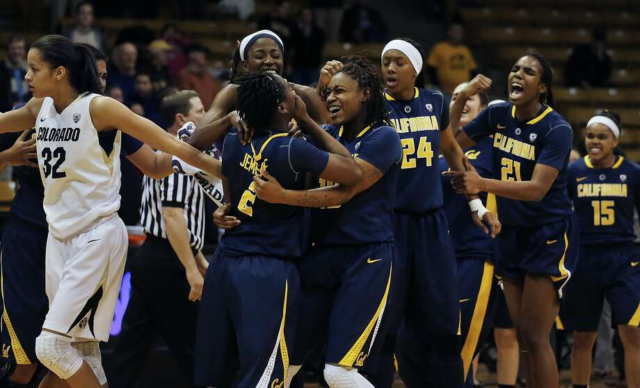 Cal trailed by 10 points late in the second half but wound up with plenty to celebrate, beating Colorado 57-55 in a battle of teams ranked in the Top 25. Photo: Brennan Linsley, Associated Press