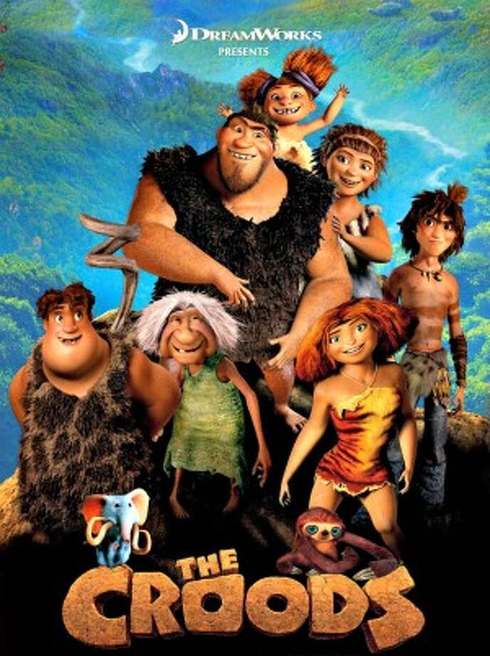 The Croods, 4 stars, on 8+, This goofy prehistoric family go on a treacherous journey, but it brings them together while making us laugh.