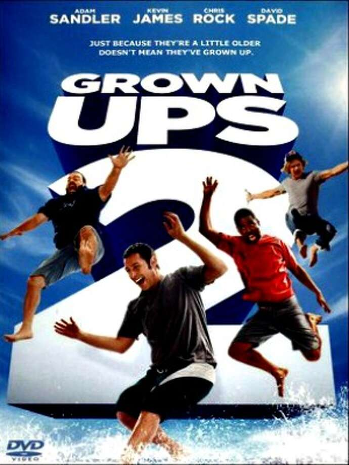 Grown Ups 2, 2 stars, 13+, We weren't expecting much from this sequel to the equally dumb original, but the sexism and jokes that fall flat made this another loser.