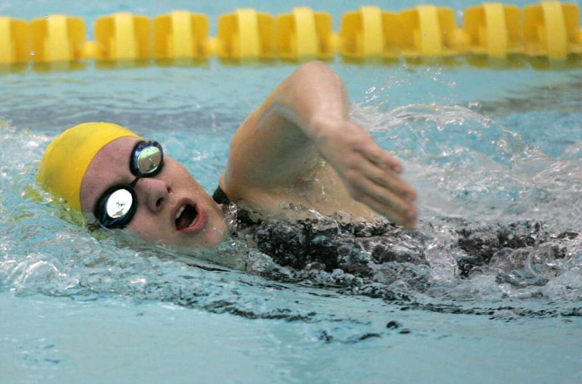 Greenwich Academy's Irina Racheva competed in the 400 Free during Wednesday afternoons meet against Greenwich Academy.