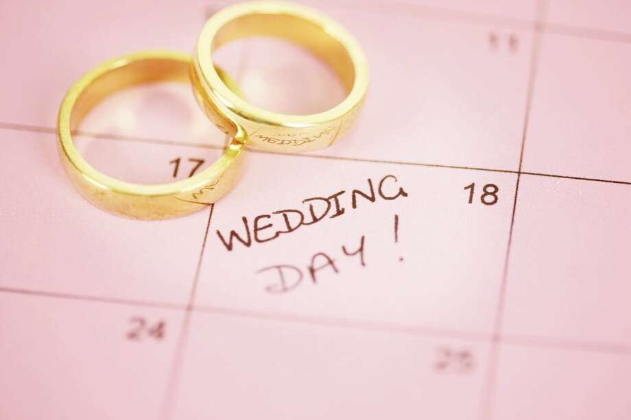 Make it a date. According to The Wedding Report, most weddings this year will fall in June, May and September, so if you're recently engaged, you might be looking at 2015 before your favorite venue is available. Photo: Tamara Murray, Getty Images