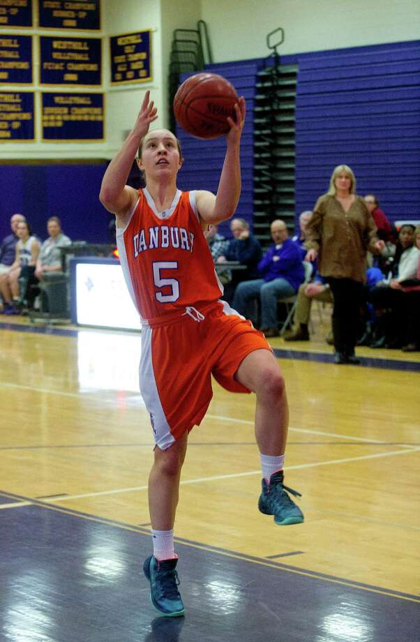 (5) Rachel Gartner of Danbury. The Boston College-bound star of the Hatters had a terrific all-around game against New Fairifeld in December. Gartner pumped in 23 points, had six steals, five rebounds and dished out 10 assists in Danbury's 61-30 victory.  Photo: Lindsay Perry / Stamford Advocate