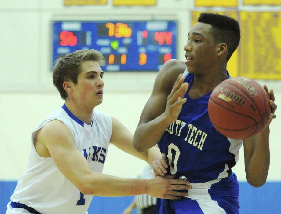 Photos from Newtown's 74-54 win over Abbott Tech in the high school boys basketball at Newtown High School in Newtown, Conn. on Friday, Jan. 10, 2014. Photo: Tyler Sizemore / The News-Times