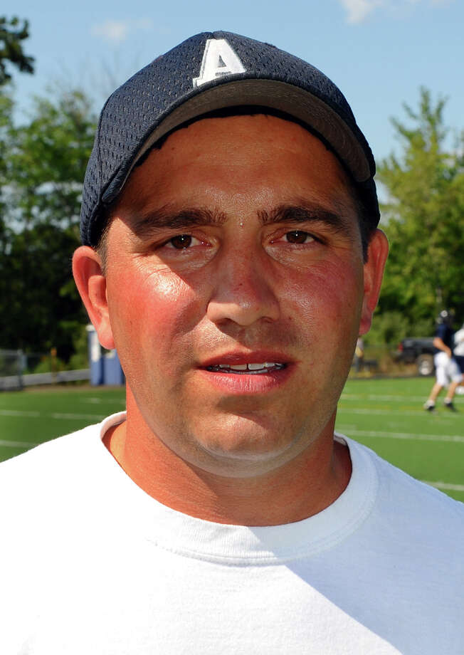 Ansonia High School football Head Coach Tom Brockett at scrimage against Notre Dame of West Haven High School in West Haven, Conn. on Tueday August 28, 2012. Photo: Christian Abraham / Connecticut Post
