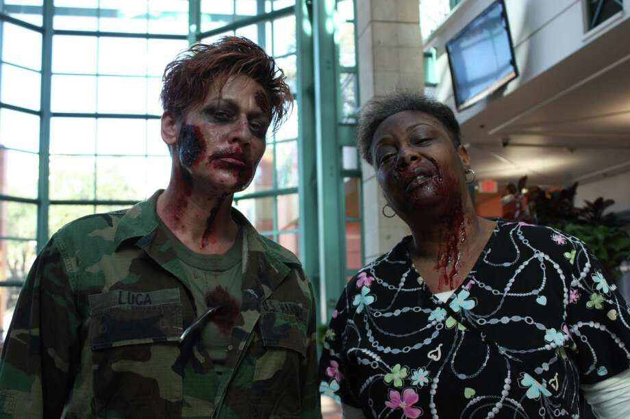 Check out who rose from the dead to attend a zombie casting call at the Santikos Bijou. Photo: Photos By Libby Castillo, For MySA.com
