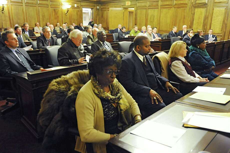 Members of the Albany County Legislature attend a meeting at the Albany County Courthouse on Monday, Jan. 6, 2014 in Albany, N.Y. (Lori Van Buren / Times Union) Photo: Lori Van Buren / 00025158A