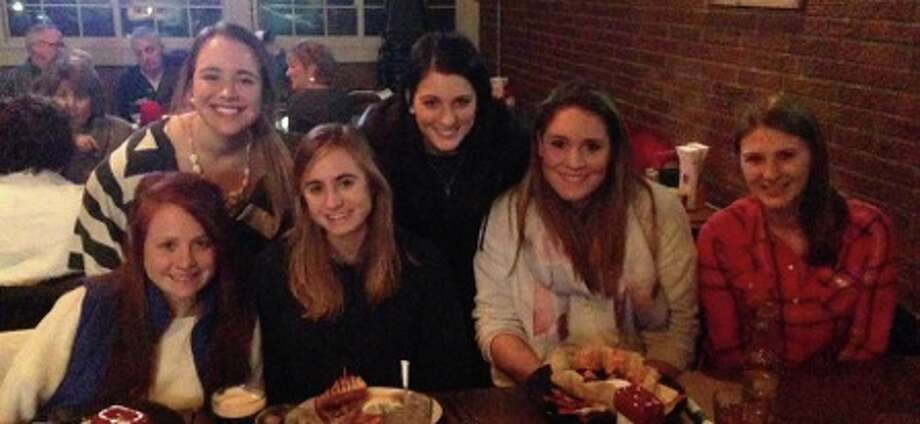 Caption: College players gather for a travel soccer reunion at Ravenswood. The former travel teammates and their high schools and colleges are, from left, Molly Popolizio (Shenendehowa, Bowdoin College) Sarah Bassett (Shenendehowa, Lesley University, Boston University); Sarah Mikula (Shenendehowa, Siena College); Karly DeSimone (Shenendehowa, SUNY Oneonta); Erin Kelly (Guilderland, Siena College) and Anne Czelusniak (Ballston Spa, Nazareth College).