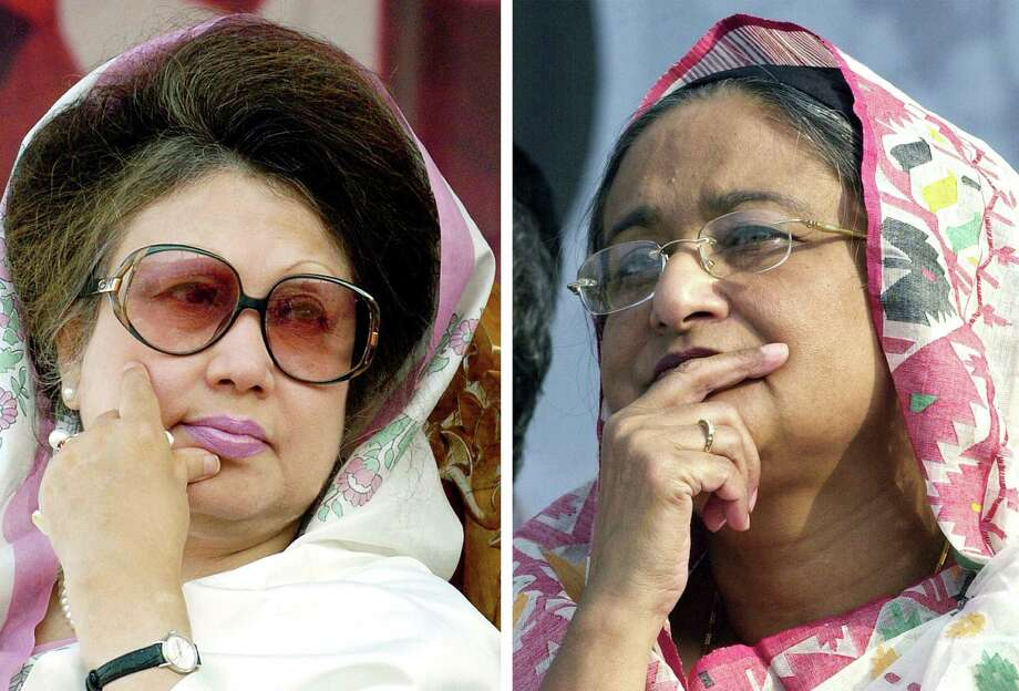 Bangladesh's two ladies: Khaleda Zia (left) and Sheikh Hasina Wajed. / AFP ImageForum