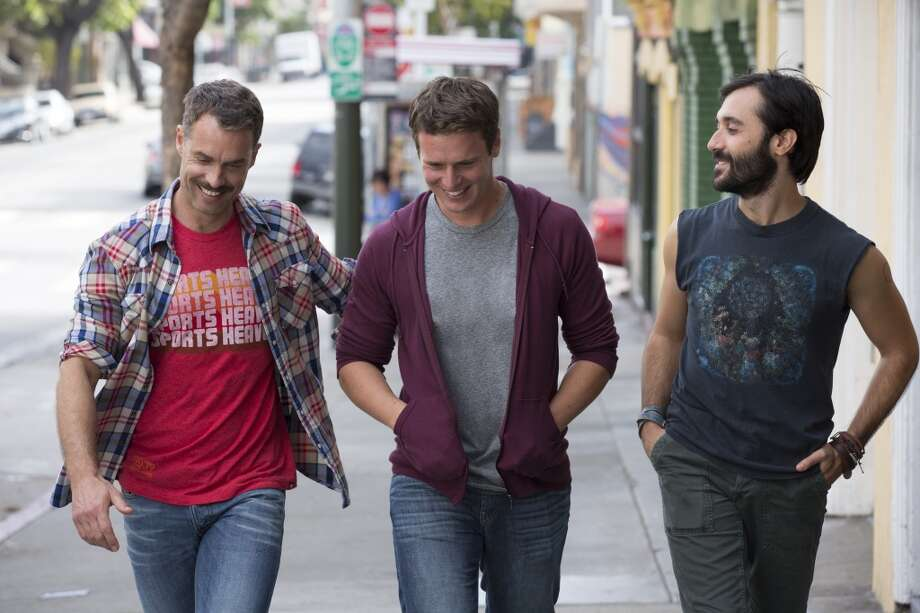 """Looking"" (9:30 p.m. Sundays, HBO; Sunday): An addictive ensemble drama, which is set in San Francisco and stars Jonathan Groff (""Glee""), follows a group of gay friends as they search for meaningful relationships."