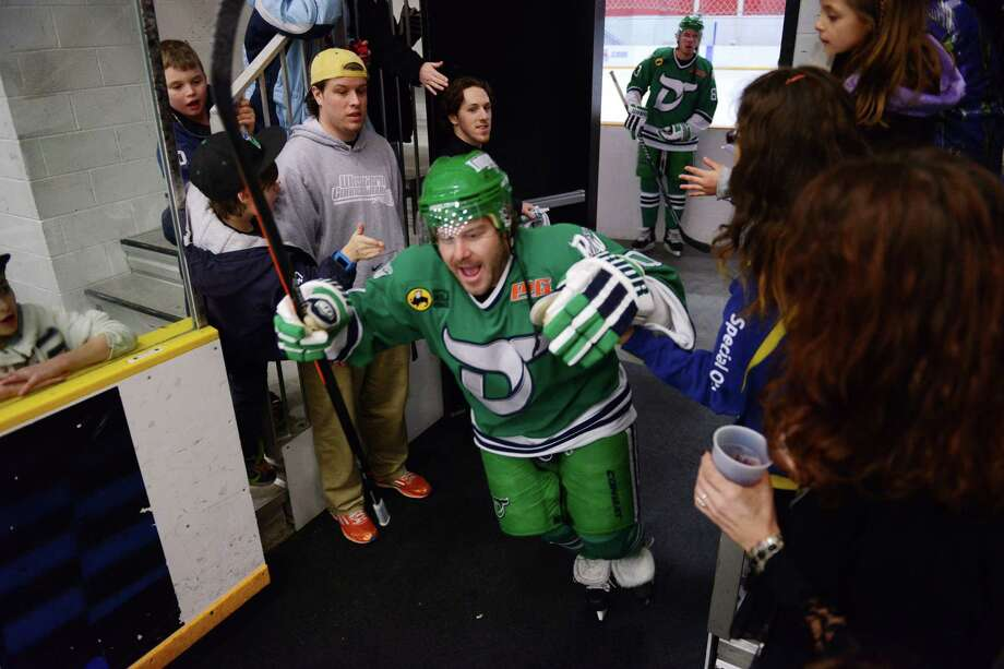 Photos from the FHL hockey game between the Danbury Whalers and the Dayton Demonz at Danbury Arena in Danbury, Conn. on Saturday, Jan. 11, 2014. Photo: Tyler Sizemore / The News-Times