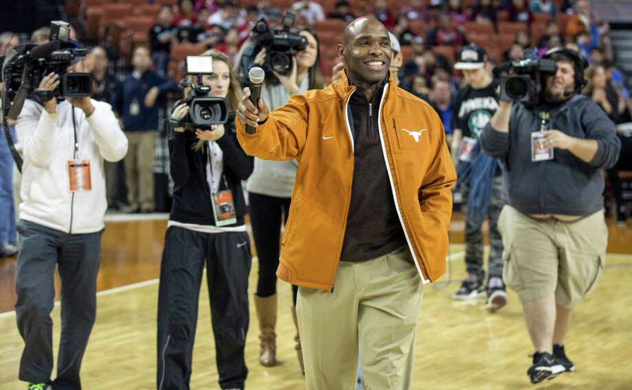 From an impoverished childhood in Arkansas to center stage in Austin, new Texas head football coach Charlie Strong  has covered a lot of ground in his 53 years. Photo: Ricardo Brazziell, MBO / Austin American-Statesman