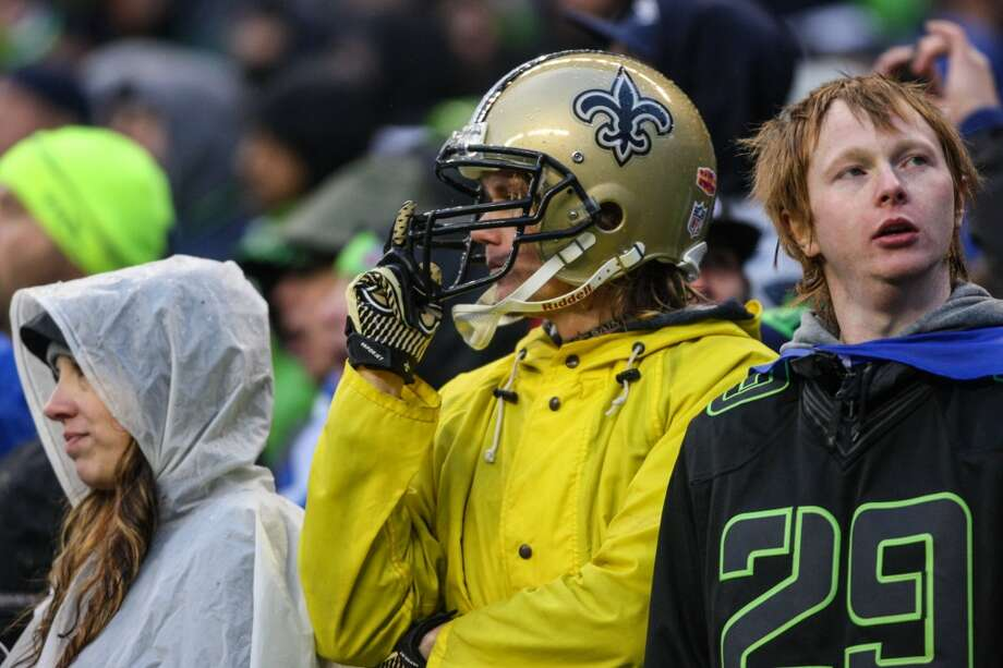 New Orleans Saints fans watch the game against the Seattle Seahawks on Saturday, January 11, 2014 at CenturyLink Field in Seattle. Photo: JOSHUA TRUJILLO, SEATTLEPI.COM