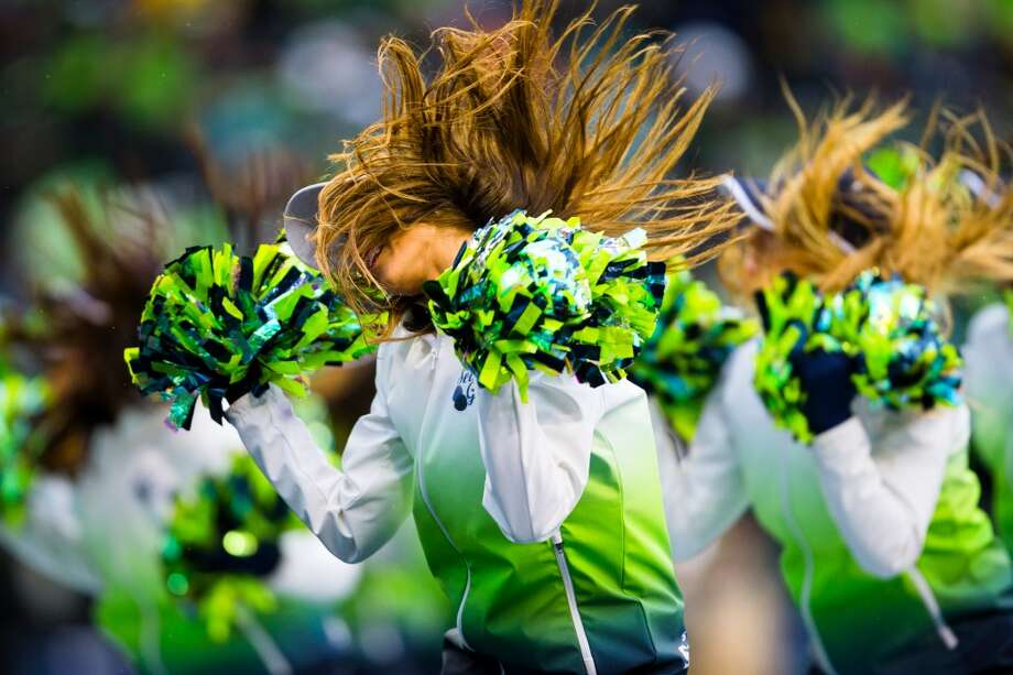 The Sea Gals perform during the first half of a playoff game Saturday, Jan. 11, 2014, at CenturyLink Field in Seattle. The Seahawks led the Saints 16-0 at the half. Photo: JORDAN STEAD, SEATTLEPI.COM