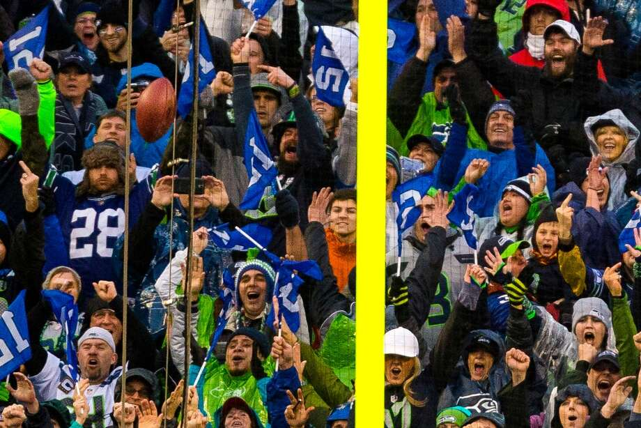 Seahawks fans taunt following a missed field goal by the Saints during the second half of a playoff game Saturday, Jan. 11, 2014, at CenturyLink Field in Seattle. The Seahawks beat the Saints 23-15 and will advance to the second game of the playoffs. Photo: JORDAN STEAD, SEATTLEPI.COM