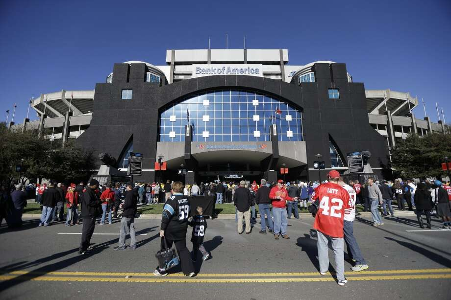 Fans walk into Bank Of America Stadium before the first half of a divisional playoff NFL football game between the Carolina Panthers and the San Francisco 49ers, Sunday, Jan. 12, 2014, in Charlotte, N.C. (AP Photo/Gerry Broome) Photo: Associated Press