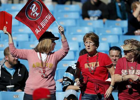 Fans cheered on the 49ers as they took the field Sunday January 12, 2014. The San Francisco 49ers take on the Carolina Panthers in a divisional playoff game at Bank of America stadium in Charlotte, North Carolina. Photo: Brant Ward, The Chronicle