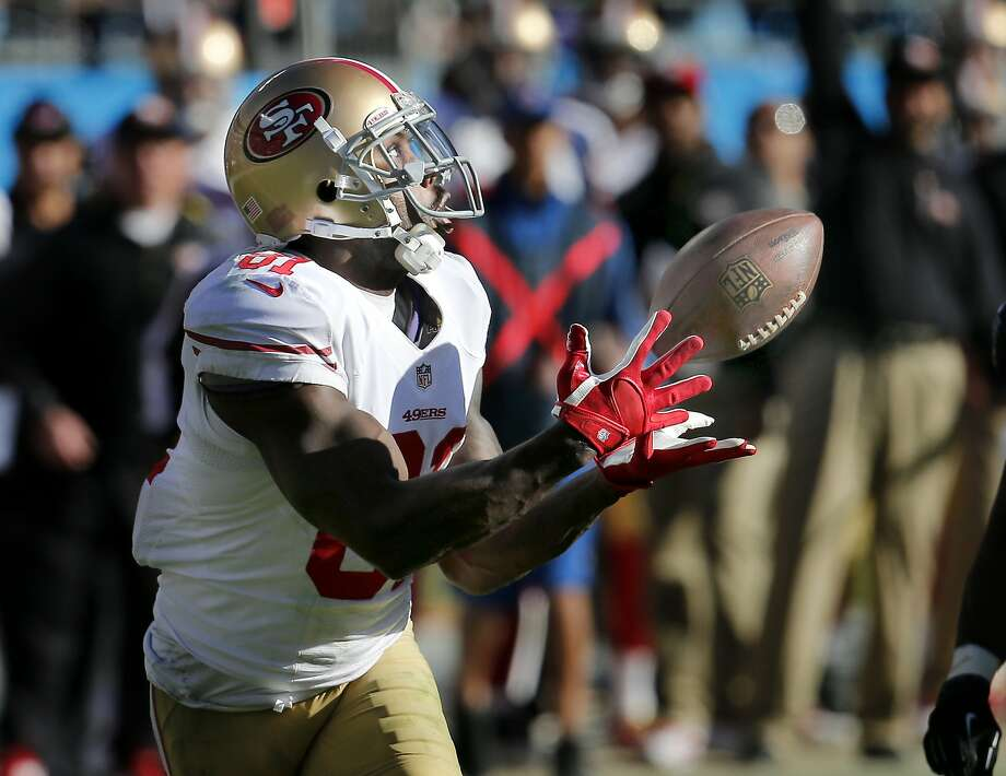 Anquan Boldin (81) caught a pass early in the third quarter to set up a touchdown Sunday January 12, 2014. The San Francisco 49ers beat the Carolina Panthers 23-10 in Charlotte, North Carolina to advance to the NFC title game against Seattle. Photo: Brant Ward, The Chronicle