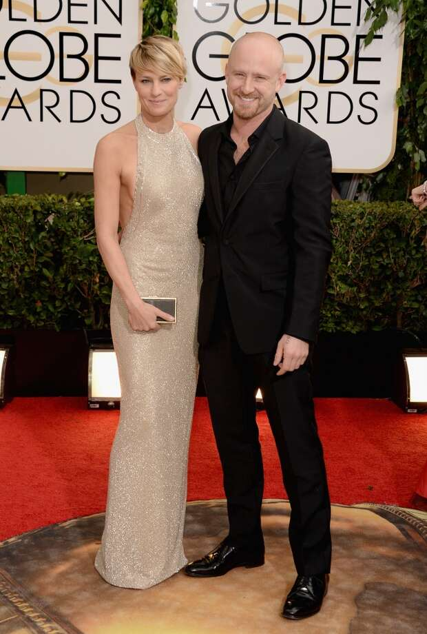 Actors Robin Wright (L) and Ben Foster attend the 71st Annual Golden Globe Awards held at The Beverly Hilton Hotel on January 12, 2014 in Beverly Hills, California. Photo: Jason Merritt, Getty Images