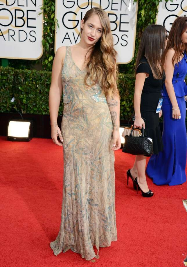 Jemima Kirke arrives at the 71st annual Golden Globe Awards at the Beverly Hilton Hotel on Sunday, Jan. 12, 2014, in Beverly Hills, Calif. Photo: Jordan Strauss, Associated Press