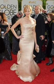 Anna Gunn arrives at the 71st annual Golden Globe Awards at the Beverly Hilton Hotel on Sunday, Jan. 12, 2014, in Beverly Hills, Calif. Photo: John Shearer, Associated Press