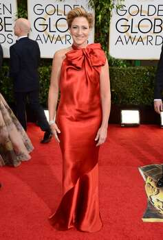 Edie Falco arrives at the 71st annual Golden Globe Awards at the Beverly Hilton Hotel on Sunday, Jan. 12, 2014, in Beverly Hills, Calif. Photo: Jordan Strauss, Associated Press