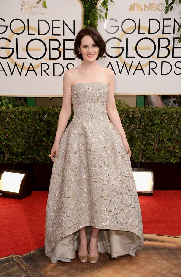 =Actress Michelle Dockery attends the 71st Annual Golden Globe Awards held at The Beverly Hilton Hotel on January 12, 2014 in Beverly Hills, California. Photo: Jason Merritt, Getty Images