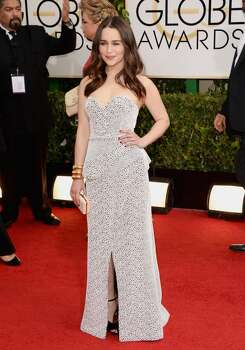 Actress Emilia Clarke attends the 71st Annual Golden Globe Awards held at The Beverly Hilton Hotel on January 12, 2014 in Beverly Hills, California. Photo: Jason Merritt, Getty Images