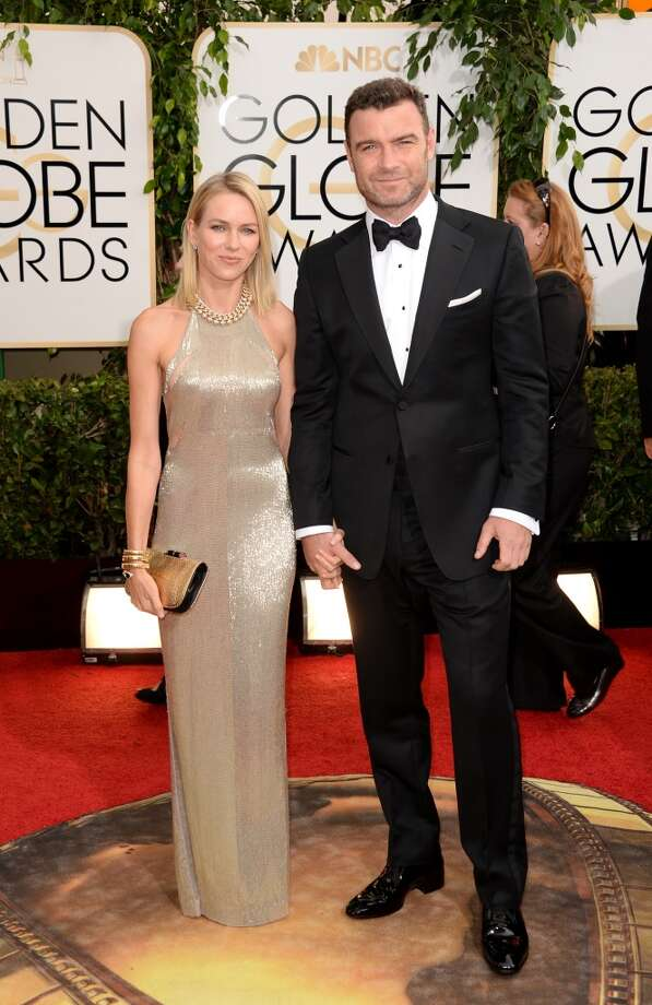 Actors Naomi Watts and Liev Schrieber attend the 71st Annual Golden Globe Awards held at The Beverly Hilton Hotel on January 12, 2014 in Beverly Hills, California. Photo: Jason Merritt, Getty Images