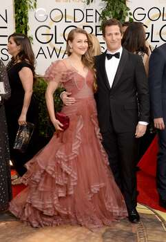 Musician Joanna Newsom and actor Andy Samberg attend the 71st Annual Golden Globe Awards held at The Beverly Hilton Hotel on January 12, 2014 in Beverly Hills, California. Photo: Jason Merritt, Getty Images