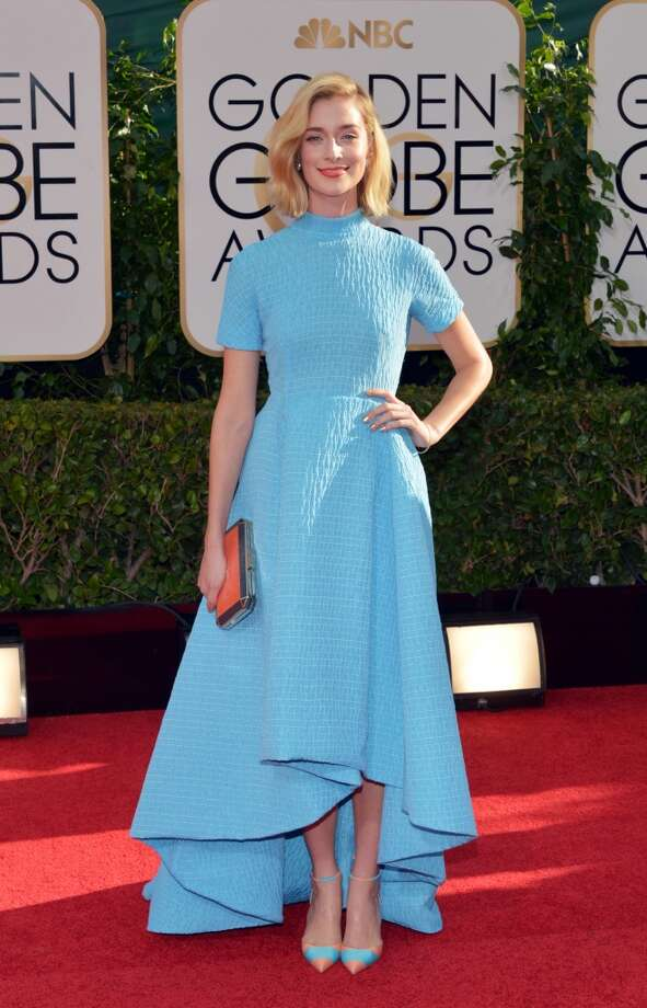 Caitlin FitzGerald arrives at the 71st annual Golden Globe Awards at the Beverly Hilton Hotel on Sunday, Jan. 12, 2014, in Beverly Hills, Calif. Photo: John Shearer, Associated Press