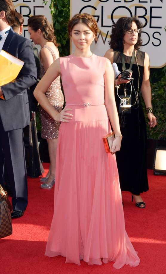 Sarah Hyland arrives at the 71st annual Golden Globe Awards at the Beverly Hilton Hotel on Sunday, Jan. 12, 2014, in Beverly Hills, Calif. Photo: John Shearer, Associated Press