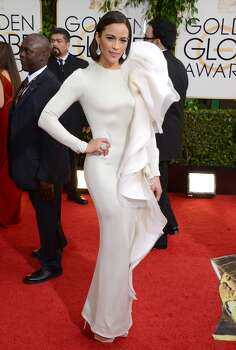 Paula Patton arrives at the 71st annual Golden Globe Awards at the Beverly Hilton Hotel on Sunday, Jan. 12, 2014, in Beverly Hills, Calif. Photo: Jordan Strauss, Associated Press