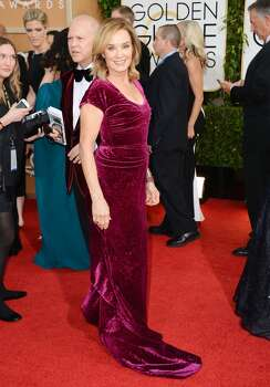 Jessica Lange arrives at the 71st annual Golden Globe Awards at the Beverly Hilton Hotel on Sunday, Jan. 12, 2014, in Beverly Hills, Calif. Photo: Jordan Strauss, Associated Press