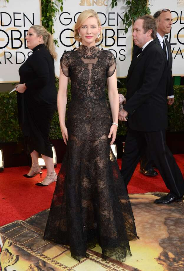 Cate Blanchett arrives at the 71st annual Golden Globe Awards at the Beverly Hilton Hotel on Sunday, Jan. 12, 2014, in Beverly Hills, Calif. Photo: Jordan Strauss, Associated Press