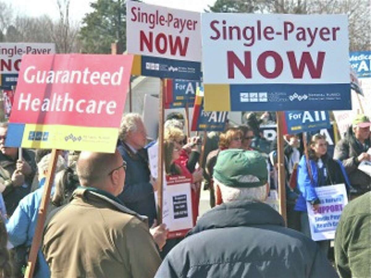 New York universal health care activists attended a rally in Vermont in 2012. (Photo: Alice Brody)