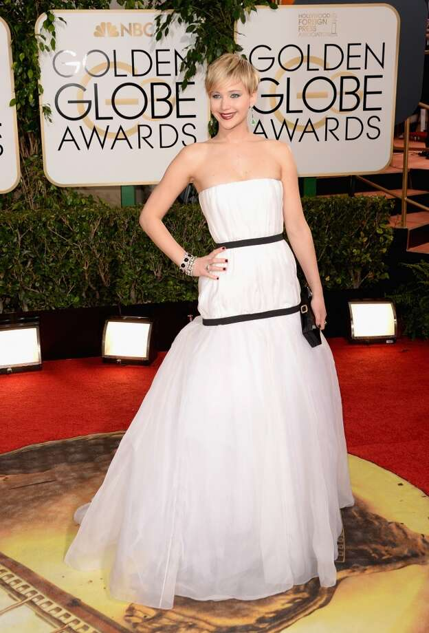 Actress Jennifer Lawrence attends the 71st Annual Golden Globe Awards held at The Beverly Hilton Hotel on January 12, 2014 in Beverly Hills, California. Photo: Jason Merritt, Getty Images