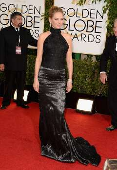 =Actress Uma Thurman attends the 71st Annual Golden Globe Awards held at The Beverly Hilton Hotel on January 12, 2014 in Beverly Hills, California. Photo: Jason Merritt, Getty Images