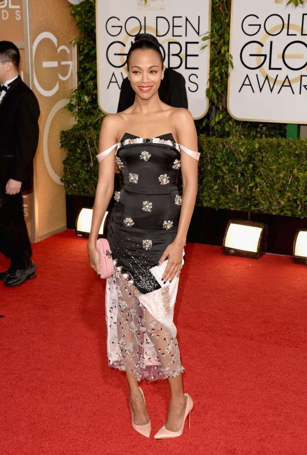 Actress Zoe Saldana attends the 71st Annual Golden Globe Awards held at The Beverly Hilton Hotel on January 12, 2014 in Beverly Hills, California. Photo: Jason Merritt, Getty Images
