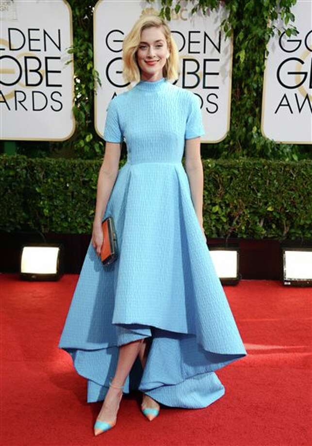 Caitlin FitzGerald arrives at the 71st annual Golden Globe Awards at the Beverly Hilton Hotel on Sunday, Jan. 12, 2014, in Beverly Hills, Calif. (Photo by Jordan Strauss/Invision/AP) Photo: Jordan Strauss, Jordan Strauss/Invision/AP / Invision