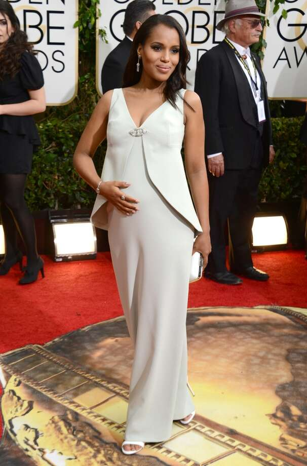 Worst: Kerry Washington. Yes, you are pulling off preggers beautifully, but ice white is not your color. Photo: Jordan Strauss, Associated Press