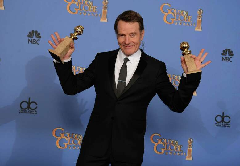 Bryan Cranston poses in the press room with the award for best tv series - drama for