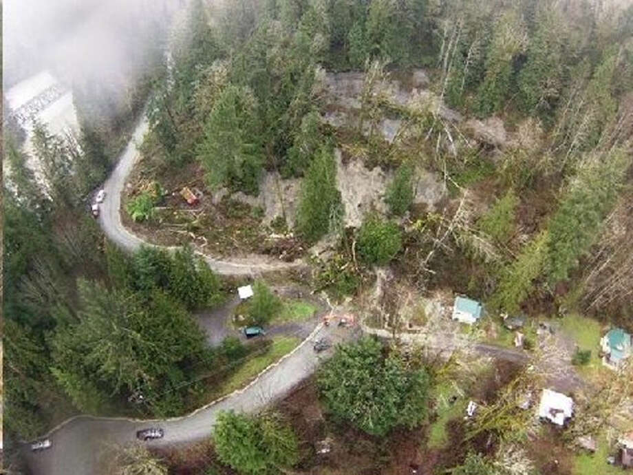 Photo of the Index slide taken by a drone. KOMO-TV