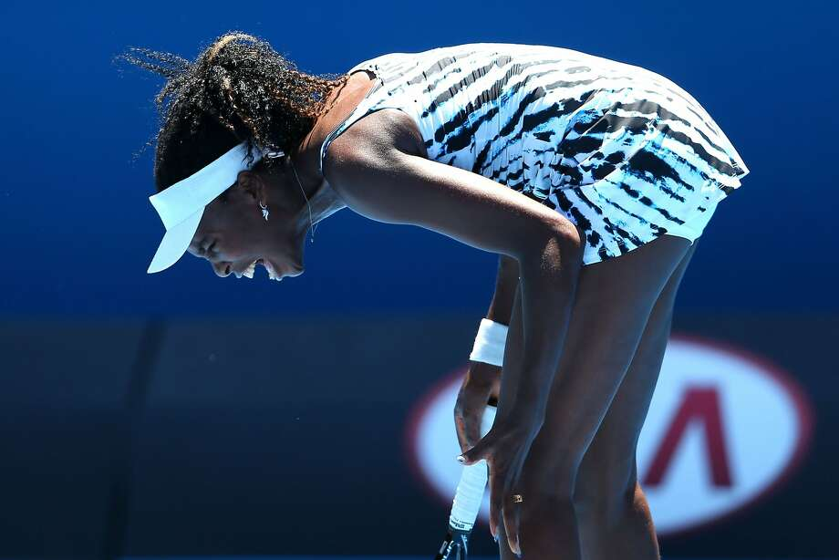 Venus Williams, a seven-time Grand Slam singles champ, was the second-oldest player at the Australian Open at age 33. Photo: Mark Kolbe, Getty Images