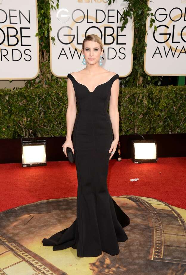 Actress Emma Roberts attends the 71st Annual Golden Globe Awards held at The Beverly Hilton Hotel on January 12, 2014 in Beverly Hills, California. Photo: Jason Merritt, Getty Images