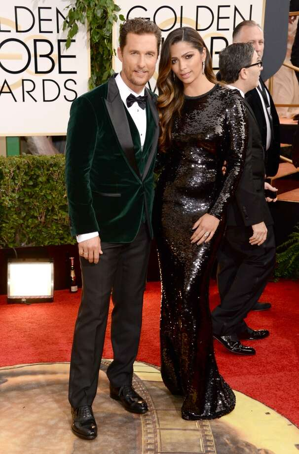 Actor Matthew McConaughey and wife Camila Alves attend the 71st Annual Golden Globe Awards held at The Beverly Hilton Hotel on January 12, 2014 in Beverly Hills, California.  (Photo by Jason Merritt/Getty Images) Photo: Jason Merritt, Getty Images