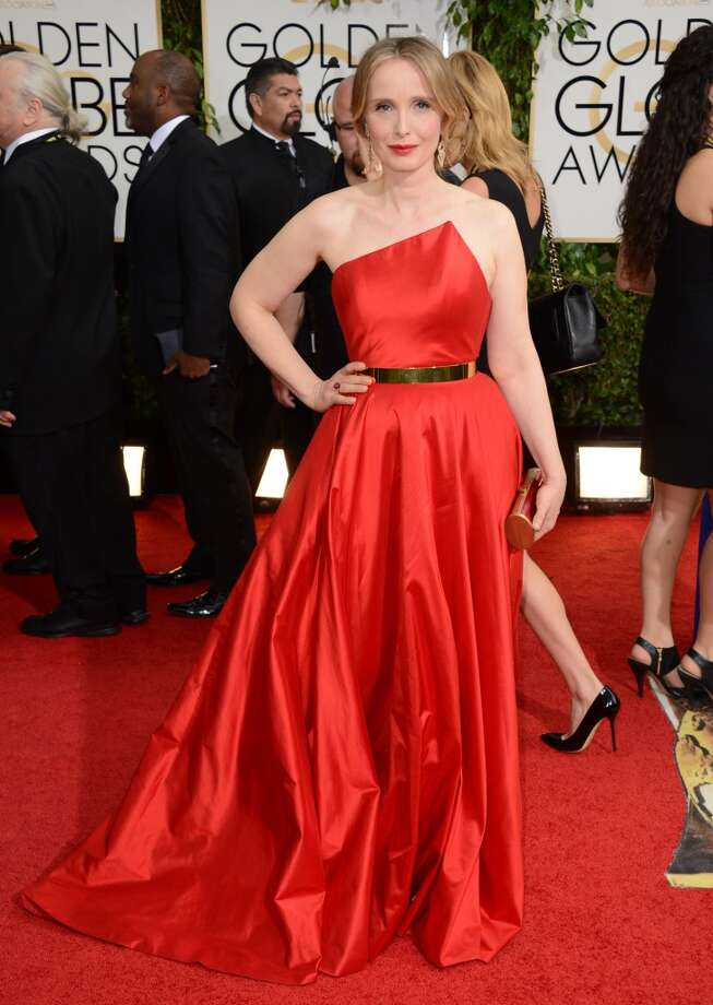 Julie Delpy arrives at the 71st annual Golden Globe Awards at the Beverly Hilton Hotel on Sunday, Jan. 12, 2014, in Beverly Hills, Calif. Photo: Jordan Strauss, Associated Press