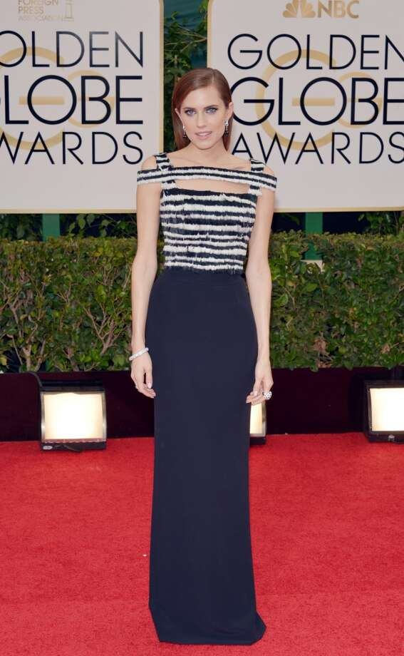 Allison Williams arrives at the 71st annual Golden Globe Awards at the Beverly Hilton Hotel on Sunday, Jan. 12, 2014, in Beverly Hills, Calif. Photo: John Shearer, Associated Press