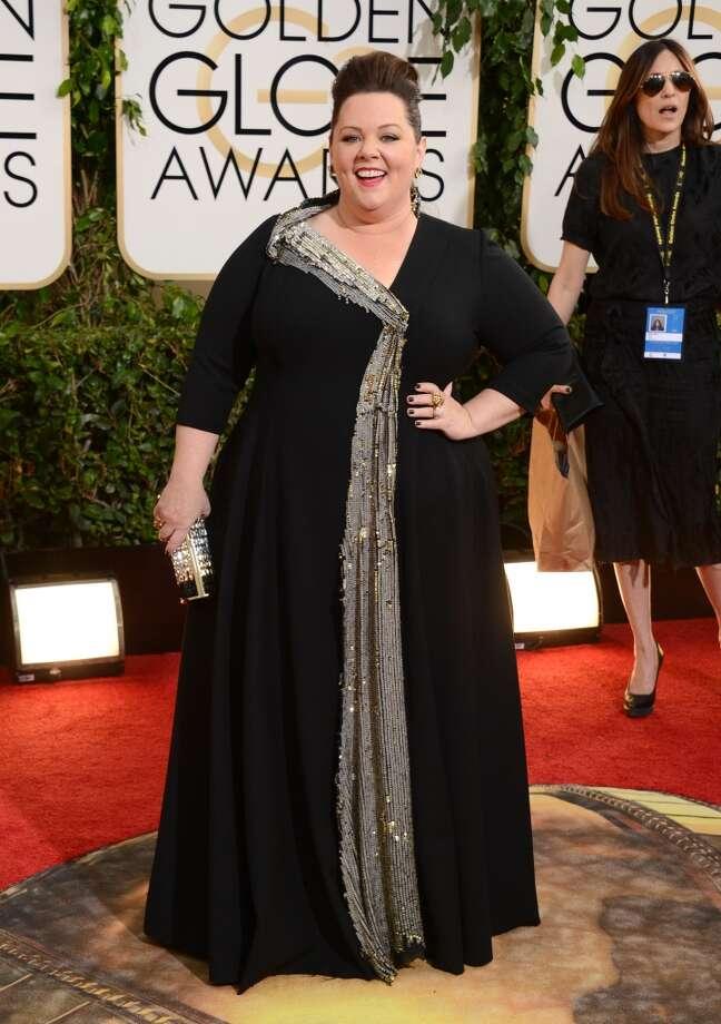 Melissa McCarthy arrives at the 71st annual Golden Globe Awards at the Beverly Hilton Hotel on Sunday, Jan. 12, 2014, in Beverly Hills, Calif. Photo: Jordan Strauss, Associated Press