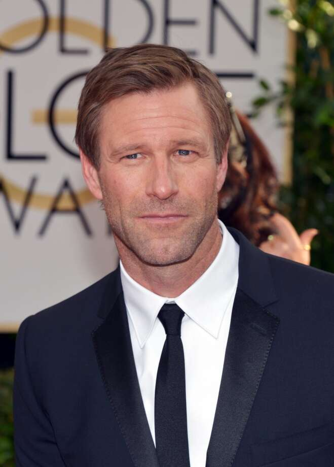 Aaron Eckhart arrives at the 71st annual Golden Globe Awards at the Beverly Hilton Hotel on Sunday, Jan. 12, 2014, in Beverly Hills, Calif. Photo: John Shearer, Associated Press